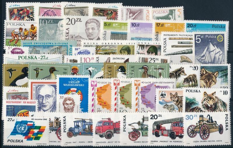 51 stamps, 51 klf bélyeg, csaknem a teljes évfolyam kiadásai
