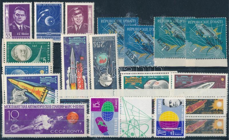 1961-1963 Űrkutatás motívum 6 klf sor + 1 db önálló érték, 1961-1963 Space exploration motive 6 diff sets + 1 stamp