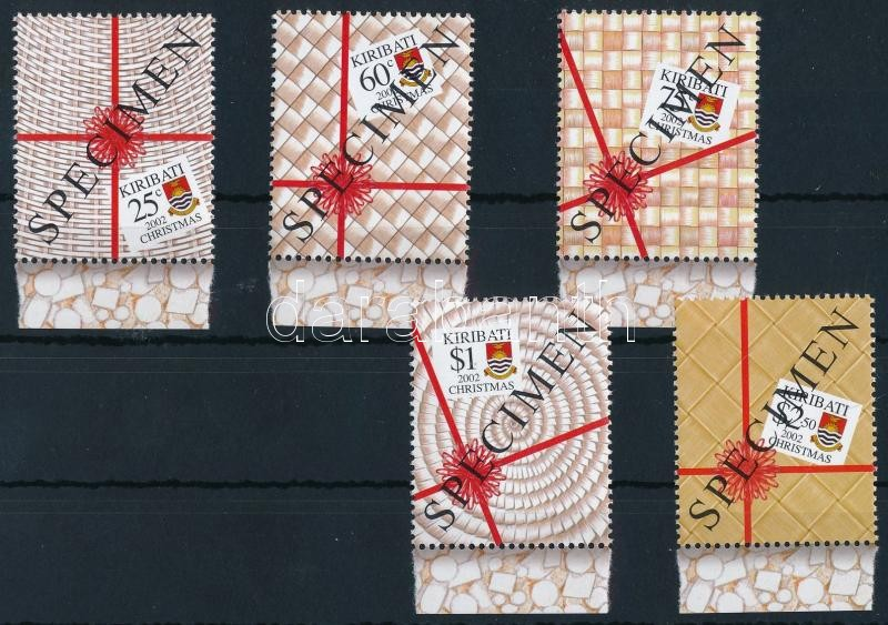 Christmas margin set with 'SPECIMEN' label, Karácsony ívszéli sor 'SPECIMEN' felirattal