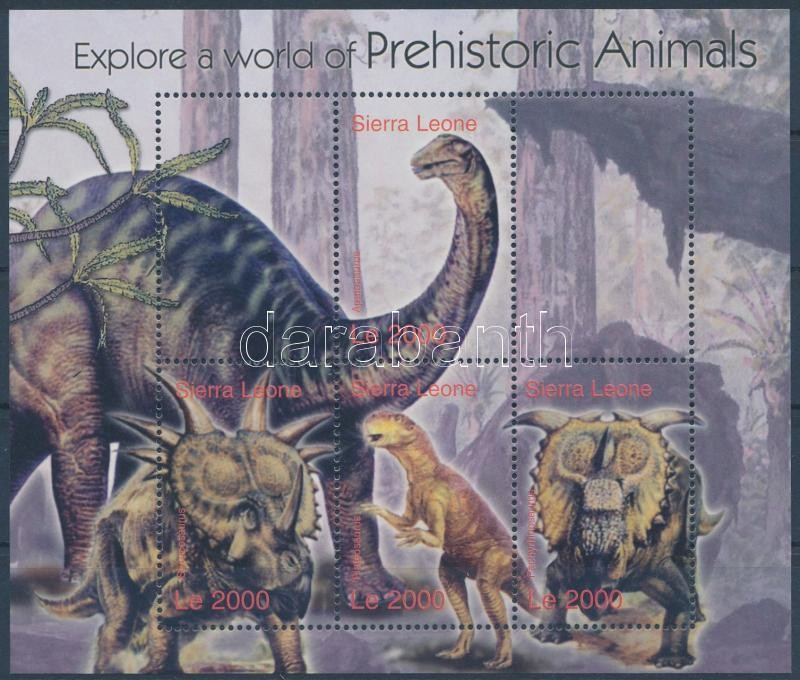 Prehistoric Animals minisheet, Ősállatok kisív