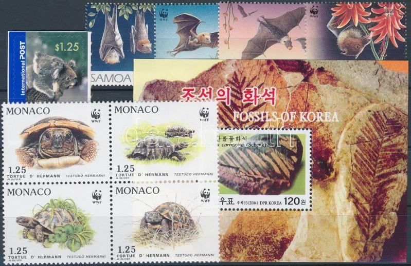Animals 1 block + 2 set + 1 stamp, Állat motívum  1 blokk + 2 klf sor + 1 önálló érték
