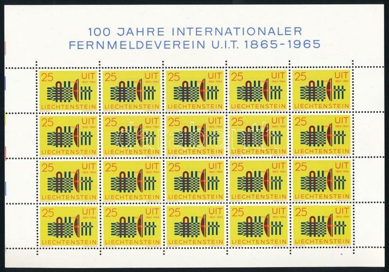 ITU minisheet, 100 éves a Nemzetközi Távközlési Unió (ITU) kisív