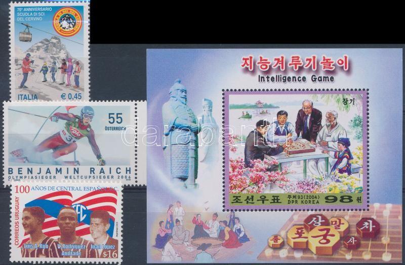 2004-2006 3 diff stamps + 1 block, 2004-2006 3 klf érték + 1 blokk