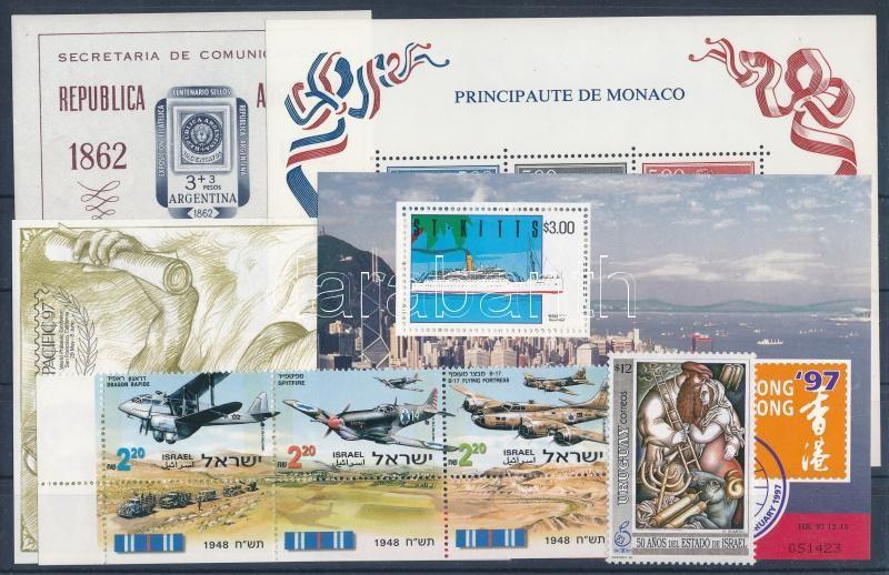 1961-1998 4 diff blocks + 1 set + 1 stamp, 1961-1998 4 klf blokk + 1 sor + 1 önálló érték