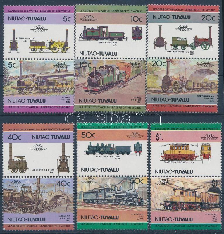 Locomotive (I) set in 6 pairs, Mozdony (I) sor 6 párban