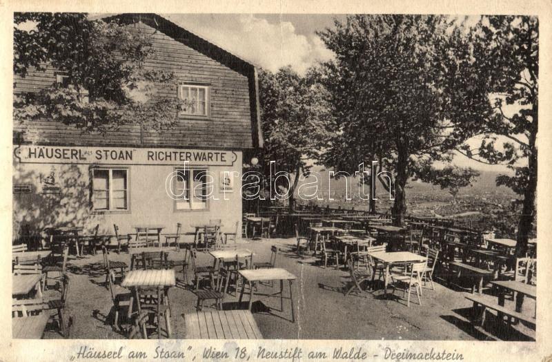 Vienna, Wien XIX. Döbling, Neustift am Walde-Dreimarkstein; Häuserl am Stoan Richterwarte / restaurant