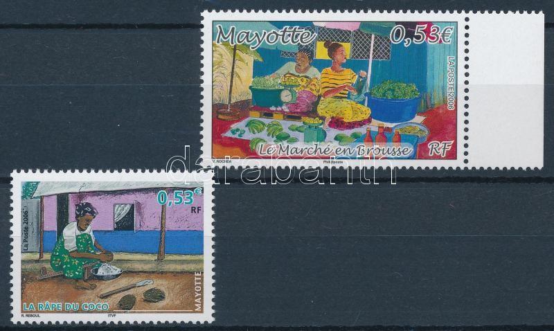 2 stamps, 1 with margin, 2 klf érték