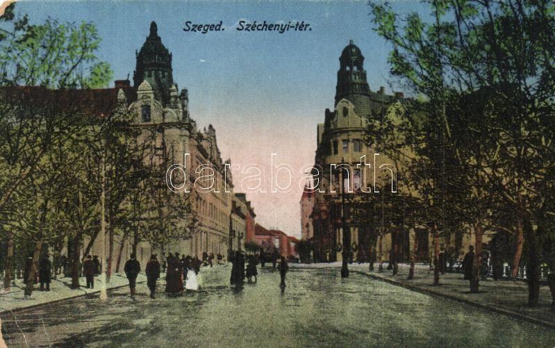 Szeged, Széchenyi tér (kopott sarok / worn corner)