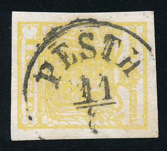 1kr MP III yellow ,,PESTH