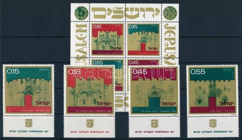 Gates of Jerusalem set with tab + block, Jeruzsálem kapui tabos sor  + blokk