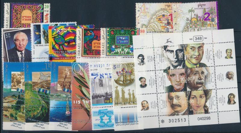 14 stamps + minisheet, 14 klf bélyeg + kisív