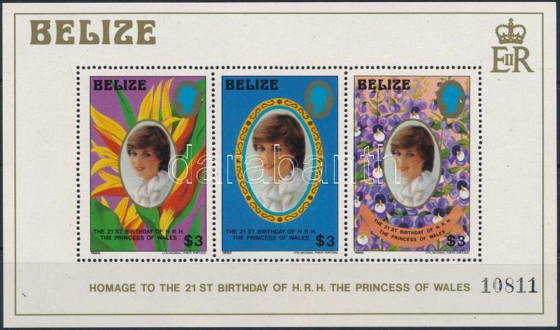 Birthday of Princess Diana block, Diana hercegnő születésnapja blokk