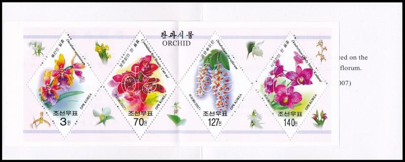 Orchideák bélyegfüzet, Orchids stamp booklet