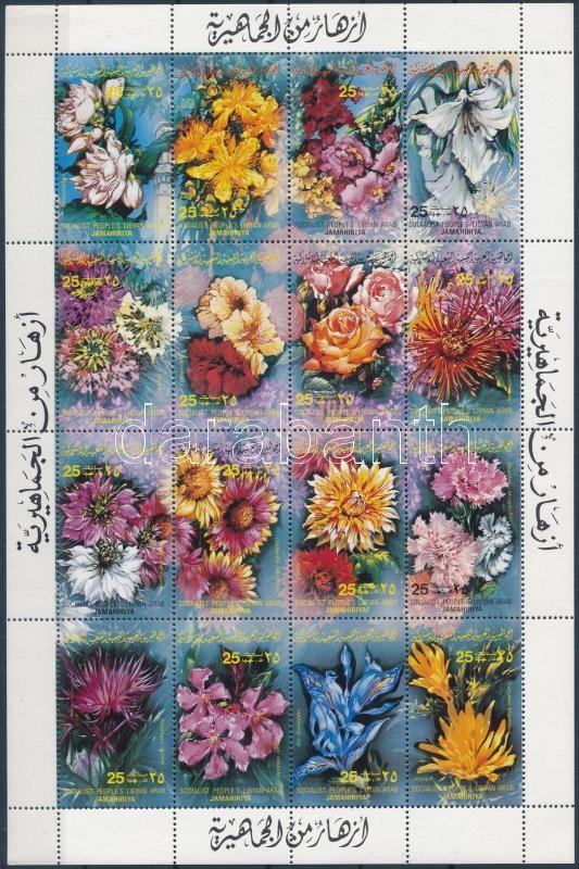 Flowers complete sheet, Virág teljes ív