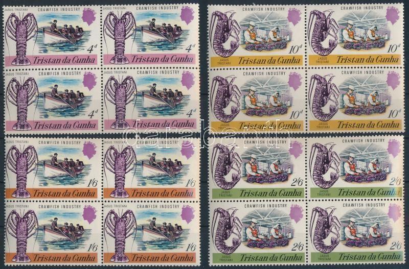 Crawfish blocks of 4, Languszta sor négyestömbökben