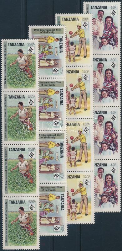 A család nemzetközi éve sor négyescsíkokban, The International Year of the Family stripes of 4