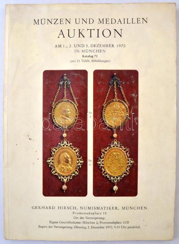 Gerhard Hirsch árevrési Katalógus Münzen Und Medaillen Auktion