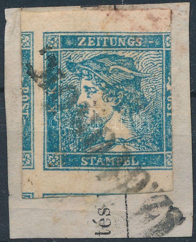 Newspaper stamp blue
