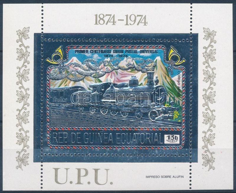 100th anniversary of UPU, steam engine block, 100 éves az UPU, mozdony blokk