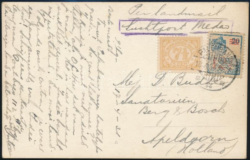 Airmail postcard to Holland, Légi képeslap Hollandiába