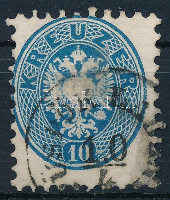 10kr blue with machine offset