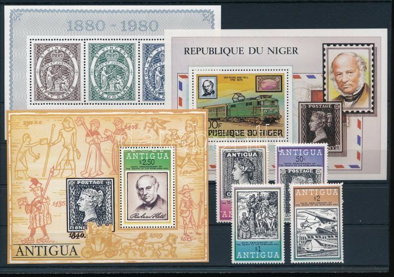 1979-1980 Stamp 4 sets + 5 blocks, 1979-1980 Bélyeg motívum 4 sor + 5 db klf blokk