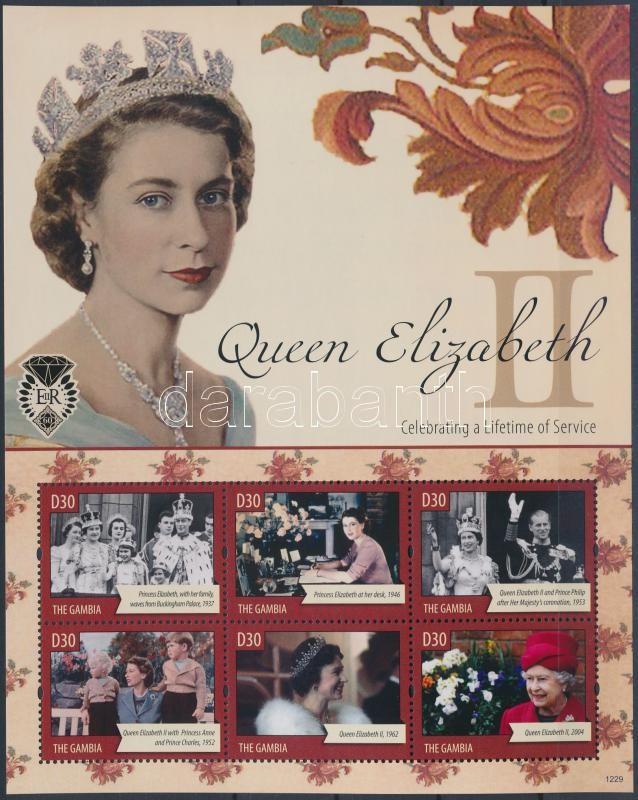Queen Elisabeth II. mini sheet, II. Erzsébet királynő kisív