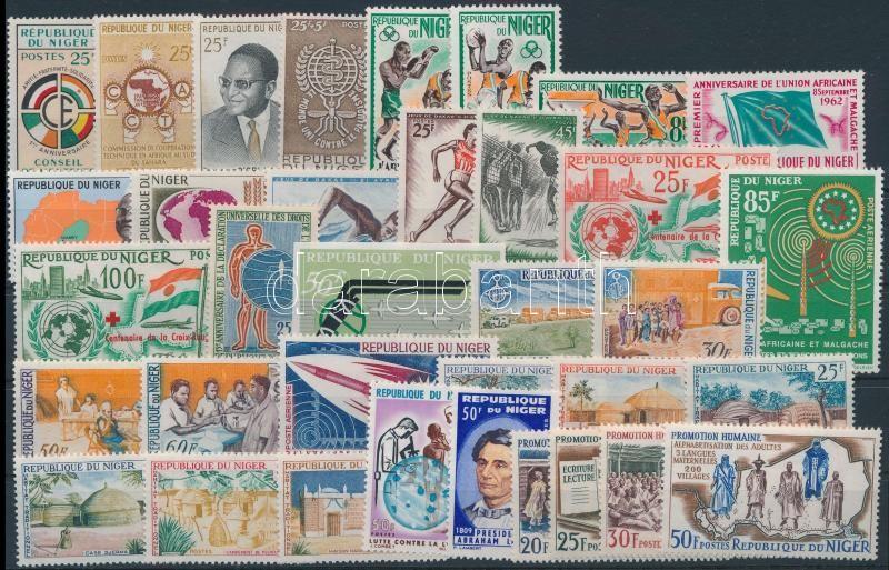 1960-1965 6 sets + 13 stamps, 1960-1965 6 klf sor + 13 klf önálló érték