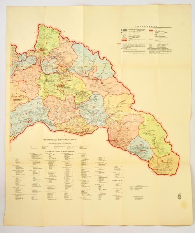0949ee007799 cca 1940 Észak-Erdély térképe (Magyarország-térkép részlete), lépték n.