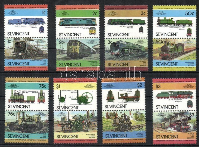 Locomotives II 8 pairs, Mozdonyok II 8 pár, Lokomotiven II 8 Paare