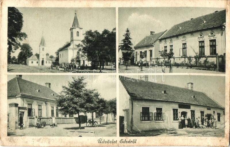 1941 Edve, templomok, üzletek. Csala fényképész