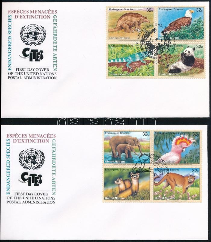 1995-1999 4 FDC, 1995-1999 4 klf FDC