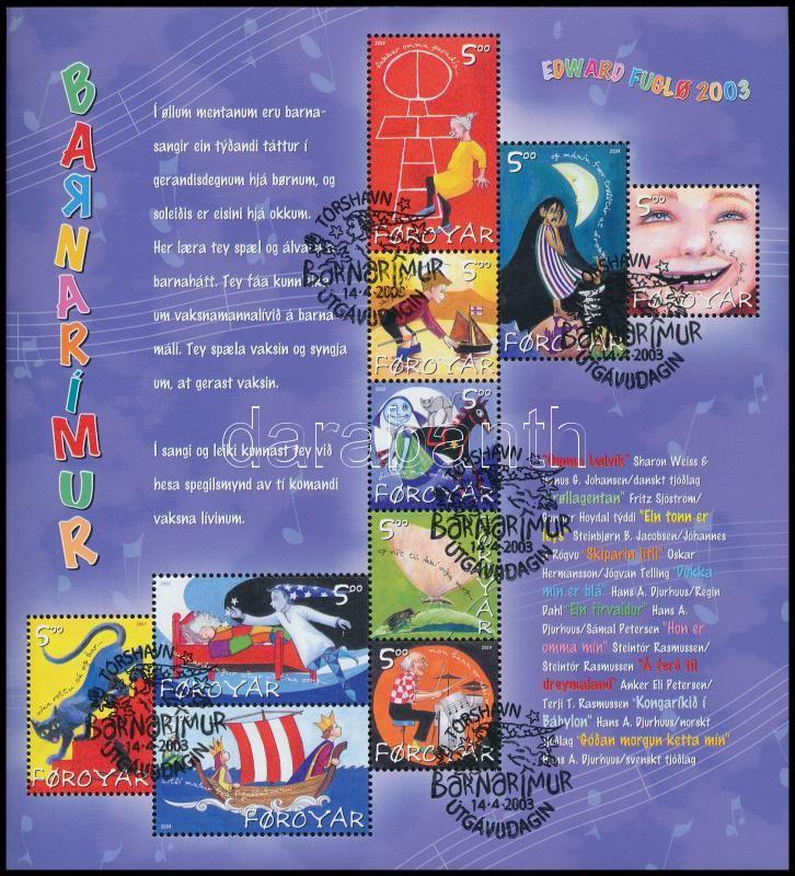 Children's Songs mini sheet, Gyerekdalok kisív