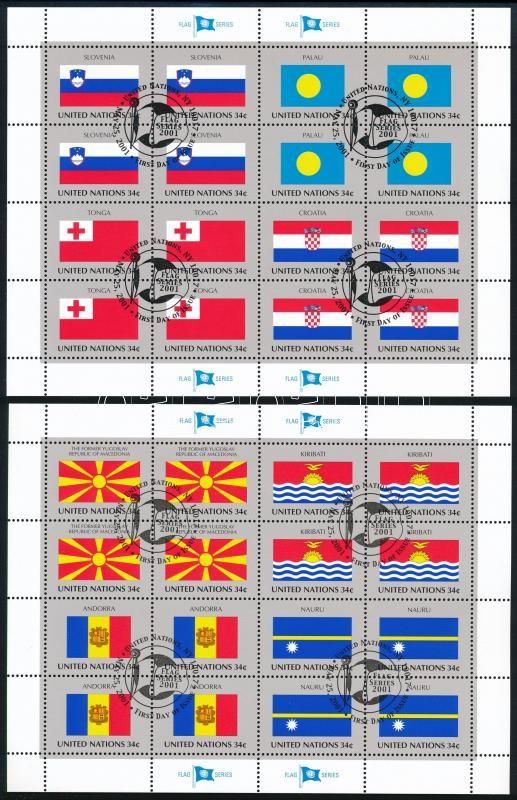 Flag mini sheet set, Zászló kisívsor