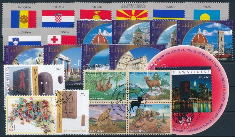 2001-2002 3 sets + 2 stamps + 1 block + 1 block of 4, 2001-2002 3 klf sor + 2 klf önálló érték + 1 blokk + 1 négyestömb