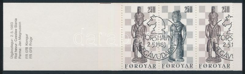 Chess figures stamp-booklet, Sakkfigurák bélyegfüzet