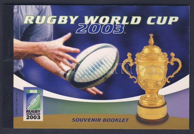 Rugby stamp booklet, Rugby világbajnokság, bélyegfüzet, Rugby-Weltmeisterschaft, Markenheftchen