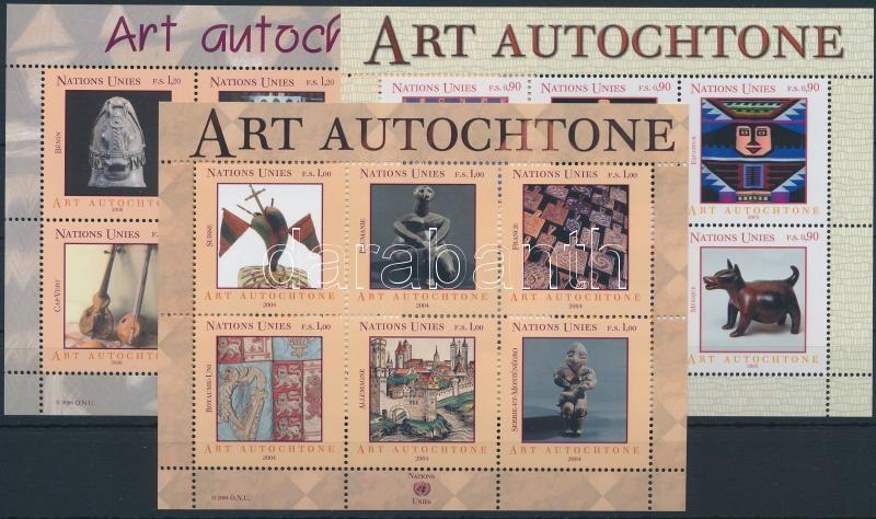 Folk Art 2004-2006 3 blocks, Népművészet motívum 2004-2006 3 klf blokk