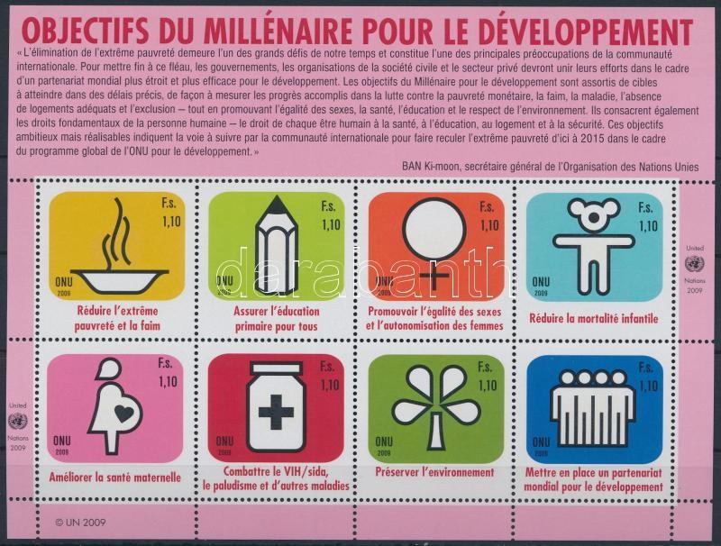 UN Development Goals mini sheet, Az ENSZ fejlesztési célkitűzései kisív