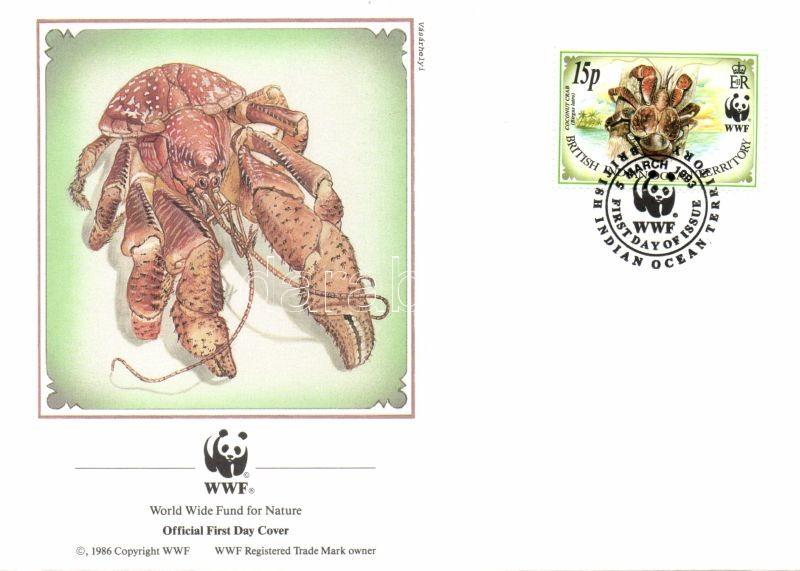 WWF Crabs set 4 FDC, WWF Rák sor 4 FDC, Palmendieb Satz 4 FDC
