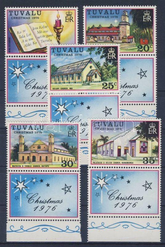 Christmas margin set with coupon, Karácsony ívszéli szelvényes sor, Weihnachten Satz mit Rand und Zierfeld