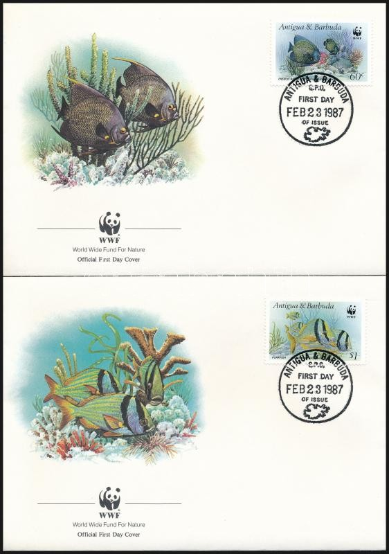 WWF Fishes set 4 FDC, WWF: halak sor 4 db FDC-n