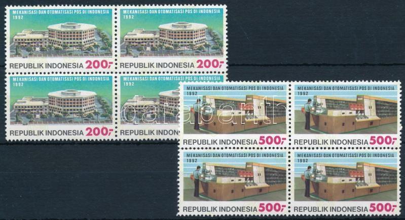 Post office blocks of 4 set, Posta sor négyestömbökben