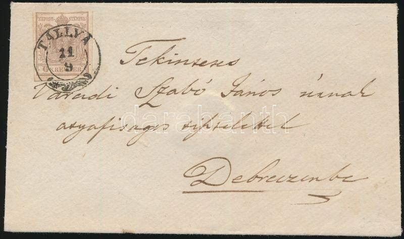 ~1851 6kr I. on cover