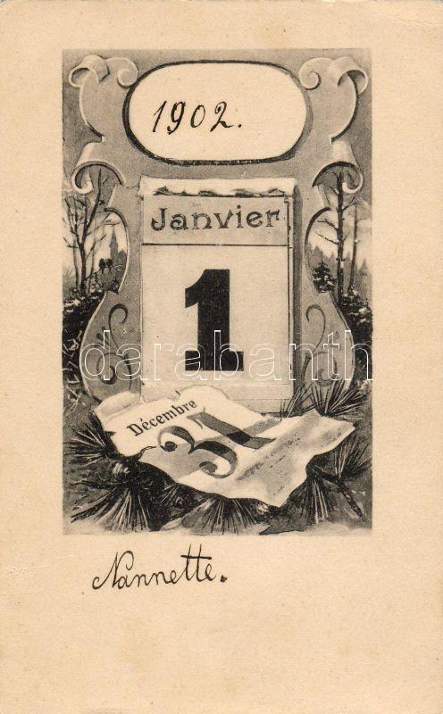 New Year, calendar, Újév, naptár