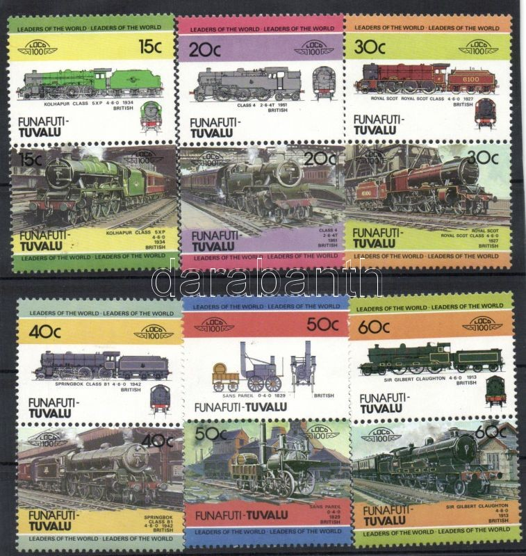 Locomotives 6 pairs, Mozdonyok 6 pár, Lokomotiven 6 Paare
