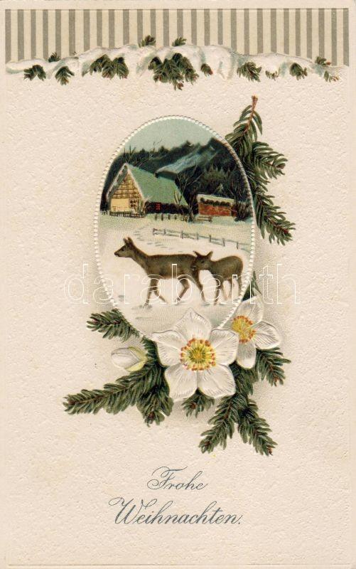 Christmas, deers, Karácsony, őzek