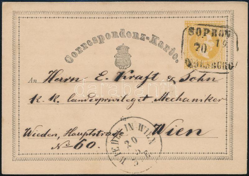 2kr PS_-card ,,SOPRON OEDENBURG