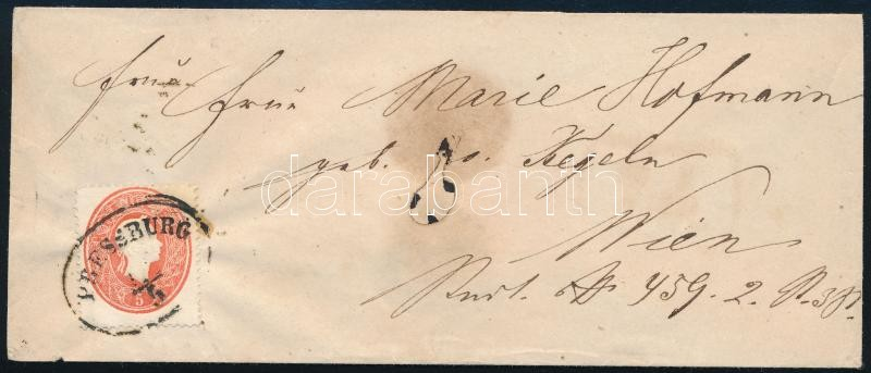 ~1862 5kr on cover ,,PRESSBURG