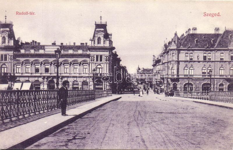 Szeged, Rudolf tér, Fehn Gyula üzlete, Pető Ernő kiadása